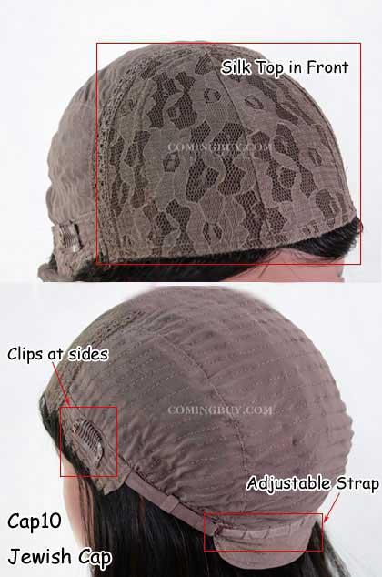 European Virgin Hair Silk Top Lace Front Jewish wig Cap