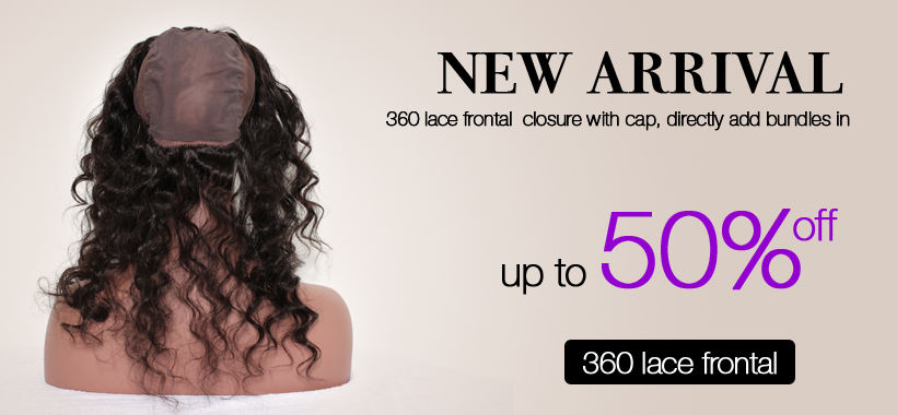 360 lace frontal closure with cap